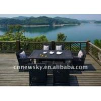 China Plastic dinning set outdoor furniture on sale