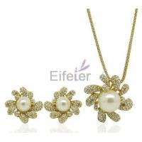 China Wholesale gold plating Jewelry Set with Temperament Gorgeous for Gift on sale