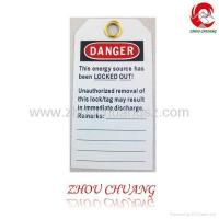 Quality ZC-T01 Safety Tagout, Safety labels, Lockout Tagout wholesale