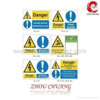 Quality All Sizes, 1mm Rigid Plastic, Self Adhesive Vinyl, Harzard Warning Signs wholesale