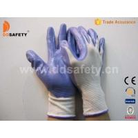 China White nylon with purple nitrile glove-DNN337 on sale