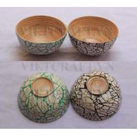 China Small bamboo bowl with eggshell finish on sale