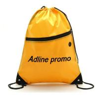 Bags, Packs & Totes Nylon Drawstring Backpack With Front Zipper Pocket-ADCD9008