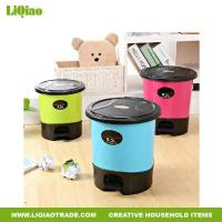 Buy cheap Bathroom products Colorful Portable ash-bin with Separate barrel specially for rest room from wholesalers