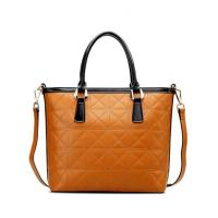 Buy cheap 2016 Fashion design good quality cow leather women custom handbag tote bag from wholesalers