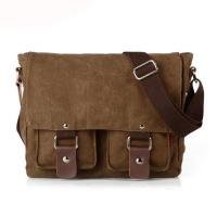 Quality Daily use 16 Oz canvas men two sided over the shoulder bag wholesale