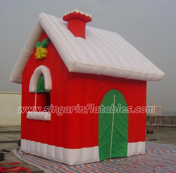 Christmas decorations santa outhouse christmas inflatable for Quality outdoor christmas decorations