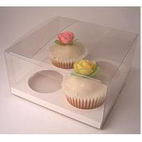 China clear cupcake boxes to hold 4 cupcakes on sale