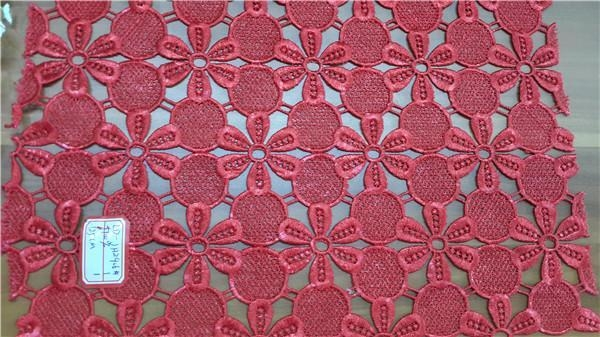 China hydrotropic embroider lace fabric