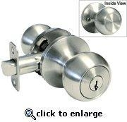 Cheap Storeroom Satin Nickel Finish Door Round Knob for sale