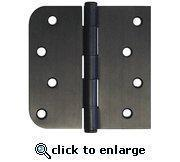 "Quality 4"" Oil Rubbed Bronze Door Hinge Square x 5/8"" Radius wholesale"