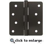 "Cheap 4"" Oil Rubbed Bronze Door Hinges 1/4"" Radius US10B for sale"