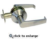 Buy cheap Satin Nickel Passage Door Lock with Lever-Style Handles from wholesalers