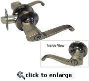Cheap Antique Brass Entrance Door Lock with Lever-Style Handles for sale