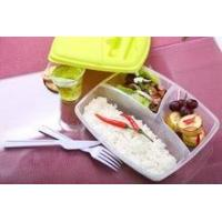 Wholesale Foodgrade plastic lunch box with fork and knife/plastic lunc... for sale
