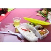 Wholesale Foodgrade plastic lunch box with fork and knife for sale