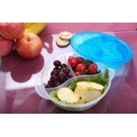 BPA-Free Plastic lunch box with 3 compartments for sale