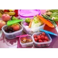 5pcsplastic lunch box set with lid /5pcs plastic food container set wi... for sale