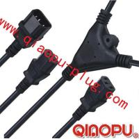 Quality one to Two connectors,power cord,power cord three-way connector wholesale