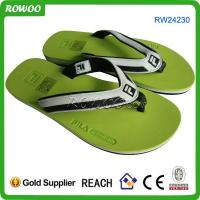Buy cheap green color fashion men slippers from wholesalers