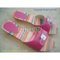 Buy cheap Flat Wooden Slipper for Lady RW12339 from wholesalers