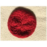 China Ladies Knit Hat Beanie Red on sale