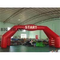 Quality New 40 Foot Full Red Air Sealed Welding Stable Inflatable Double Arch Details wholesale