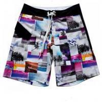 Quality printed 4 way stretch fabric made board shorts checkers wholesale fabric wholesale