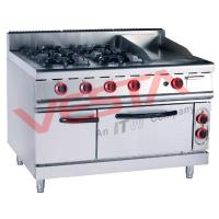 China JUSTA(237) Product  Gas Range With 4-Burner& Griddle&Electric Oven on sale
