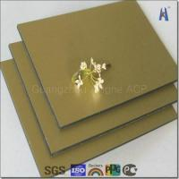 Buy cheap gold brush aluminum composite panel for exterior and interior building decoration from wholesalers