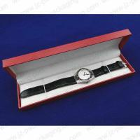China Watch box red flat lay leatherette watch box strap/bracelet box on sale