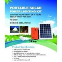 China 10W mini solar panel kits for home off-grid solar power system on sale
