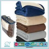 China Factory price no pilling fire retardant machine washable multifunction brown wool military blanket on sale