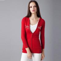 China 2016 Classic Red Ladies Knitted Cardigan on sale