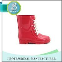 Quality China Manufacturer Environmental solid pink cute lace rubber boot wholesale