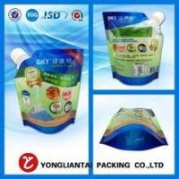Quality printing bag plastic bag stand up spout pouch bag for liquid packaging wholesale