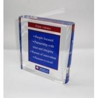 New arrive square acrylic sign block ,acrylic paperweight