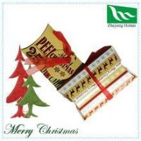 Merry Christmas pillow gift boxes with ribbon and paper