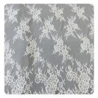 Quality Beautiful white Nylon Eyelash Elastic Lace Trim / Decorative Lace Trim wholesale