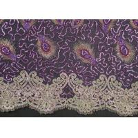 Buy cheap Elegant Embroidery Beaded Lace Fabric for Garment Trimming CY-XP0010 from wholesalers