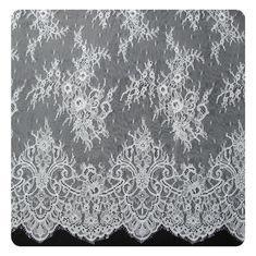 Cheap Embroidered Nylon Eyelash Lace Trim Shorts / Embroidered Lace Fabric for sale