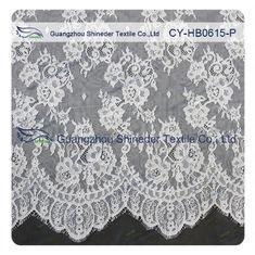 Cheap Chantilly Lace Fabric Eyelash Lace Trim For Womens Dress , White And Gray for sale