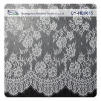 Quality White Flower Sewing Eyelash Lace Trim For Bridal Wedding Gown wholesale