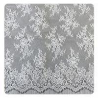 Buy cheap 100% Nylon Ivory Floral scalloped edged Chantilly Lace Customized from wholesalers