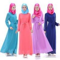 Buy cheap 11615 Lady Maxi Islamic Muslim Kaftan Abaya Chiffon Long dress from wholesalers