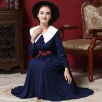 11804 hot sale occident Embroidery long dress elegant muslim dress abaya princess dresses