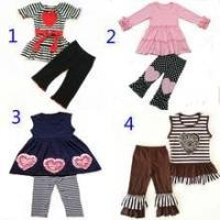 buy cheap valentine s day fashion design girls boutique clothing sets