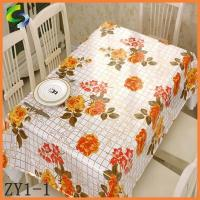 China Partial Transfer Printing Tablecloth Plastic table cover pvc table cover in roll on sale