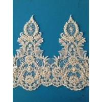 Quality Bridal Lace Trim With Handmade Beads And Pearls Lace Trim In Lace For Decorative wholesale