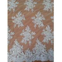 Quality Bridal Lace Fabric 130cm Polyester Wedding Dress Lace Fabric (W9006) wholesale